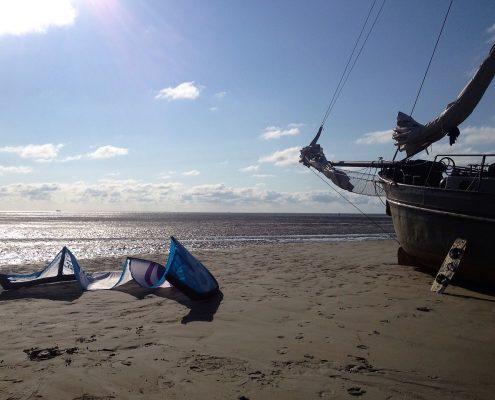kitesurfen en zeilen
